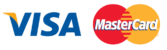 Visa mastercard logos